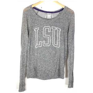 PINK Victoria's Secret Gray LSU Sweater XS